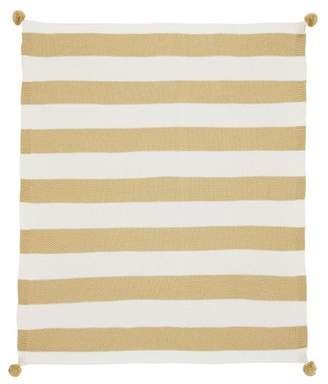 Pottery Barn Teen The Emily &amp Meritt Circus Stripe Throw, 50&quotx60&quot, Gold Stripe