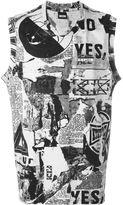 Kokon To Zai newspaper print tank top