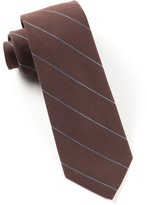 The Tie Bar Brown Wool Stripe Tie