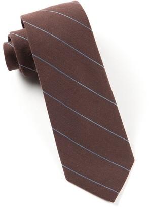 Tie Bar Wool Stripe Brown Tie