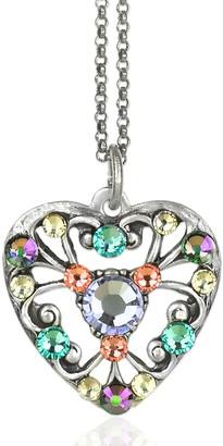 Swarovski Anne Koplik Crystal Pastel Heart Necklace