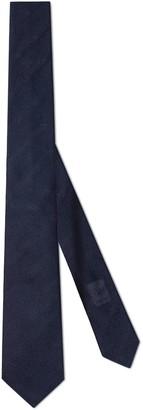 Gucci Double G jacquard silk tie