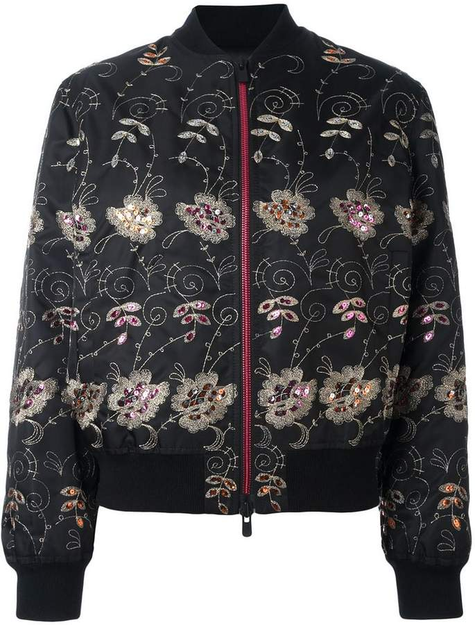 Givenchy floral embroidered bomber jacket