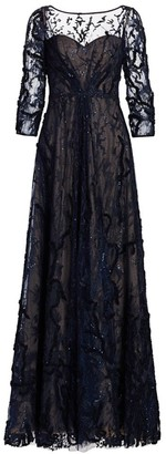 Rene Ruiz Collection Netted Lace Gown