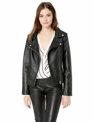 BB Dakota Junior's Just Ride Textured Vegan Leather Moto Jacket