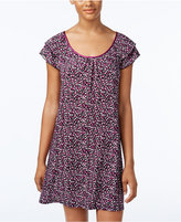 Alfani Satin-Trimmed Printed Nightgown, Only at Macy's