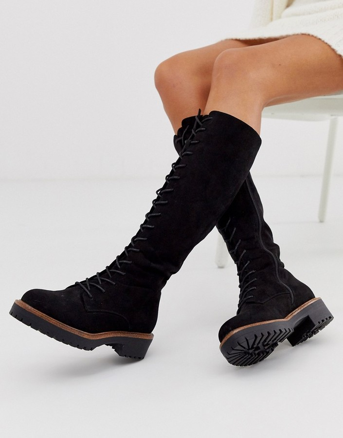 Knee High Lace Up Boots Shop The World S Largest Collection Of Fashion Shopstyle Australia