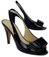 Kate Spade Black Patent Leather Sandal Heels