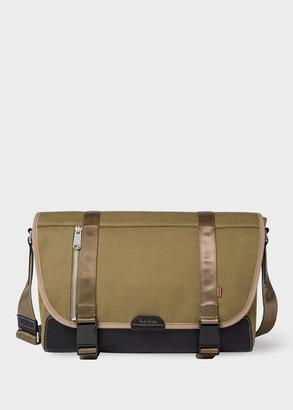 Men's Khaki Canvas Messenger Bag