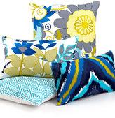 "Trina Turk Trellis Turquoise Mineral Flower 12"" x 20"" Decorative Pillow"