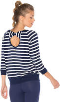 Beyond Yoga x kate spade Bow Cut Sweatshirt in Navy. - size L (also in M,S,XS)