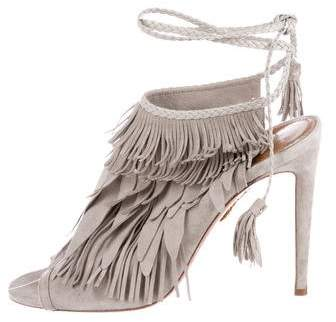 Aquazzura Fringe Glove Sandals