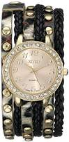 XOXO Women's XO5601 Black and Gold Braided Wrap Watch