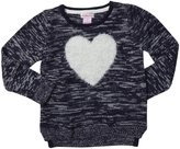 Design History Eyelash Heart Top (Toddler/Kid)-True Blue-6