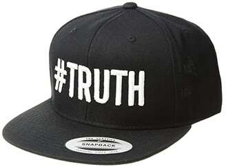 Zappos Theater Gwen Stefani #Truth Snapback Hat (Black/White) Caps