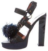 Lanvin Leather Embellished Sandals