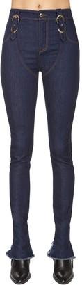 Versace Jeans Couture Buckled Cotton Denim Jeans