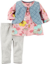 Carter's 3-pc. Vest and Pants Set - Baby Girls newborn-24m