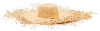 Sensi Lady Ibiza Fringed Wide-brim Straw Hat - Beige