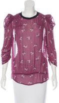 Etoile Isabel Marant Semi-Sheer Printed Top