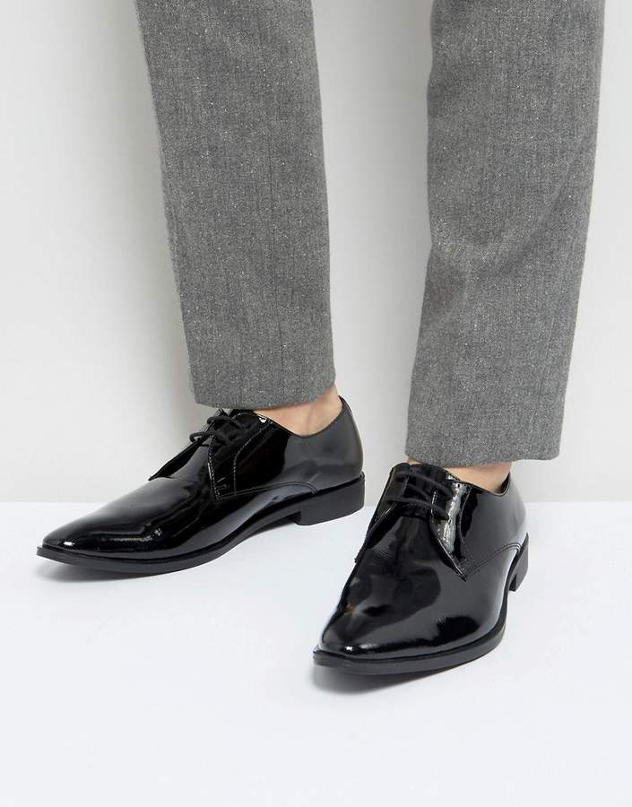 Frank Wright Derby Shoes In Patent Leather
