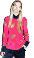 3.1 Phillip Lim Long-sleeve ginkgo-embellished top