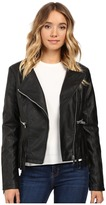 Brigitte Bailey Lowri Faux Leather Jacket with Fringe
