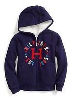 Tommy Hilfiger Big Girl's Reversible Fur Hoodie