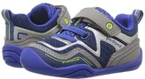 pediped Force Grip n Go (Toddler) (Navy/Silver) Boy's Shoes