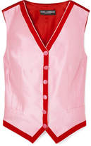 Dolce & Gabbana Two-tone Faille Vest - Pink