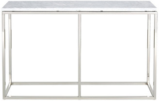 Palliser Furniture Palliser Furniture, Julien Console Table, Chrome Base, White Marble To