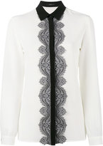 Etro lace long sleeve shirt - women - Silk/Polyester - 44