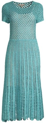 Michael Kors Crochet Midi Dress