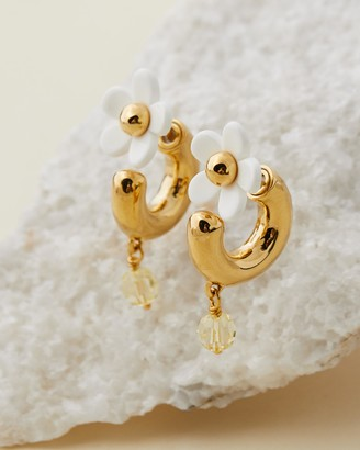 Marc Jacobs Women's Gold Hoop Earrings - The Daisy Mini Hoops - Size One Size at The Iconic