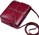 Kinghard® Kinghard Vintage Purse Bag Leather Cross Body Shoulder Messenger Bag