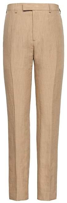 Banana Republic Heritage Athletic Tapered Pinstripe Italian Linen Suit Pant