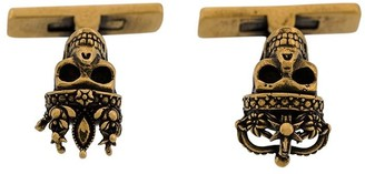 Alexander McQueen Skull Embellished Cuff-Links