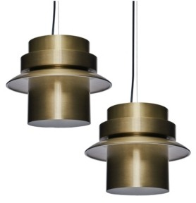 Southern Enterprises Brooklynn Art Deco Pendant Light Collection 2 Piece Set