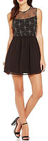 As U Wish Beaded Bodice Chiffon Skirt A-line Dress