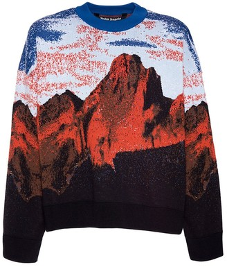 Palm Angels Multicolored Canyon Print Sweater