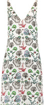Emilio Pucci Faux pearl-embellished printed silk-jacquard mini dress