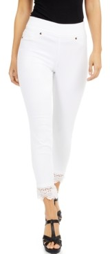Thalia Sodi Lace-Hem Jeggings, Created for Macy's