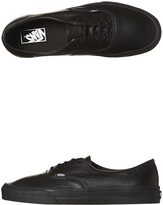 Vans Womens Authentic Decon Leather Shoe Black
