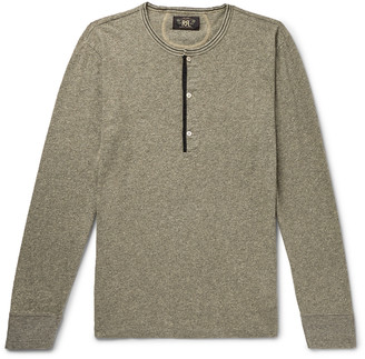 Ralph Lauren RRL Slim-Fit Melange Cotton-Jersey Henley T-Shirt