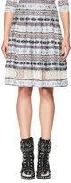 Alexander McQueen Fair Isle Lace-Inset A-Line Skirt, Multi