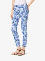 Michael Kors Printed Cotton-Sateen Pants
