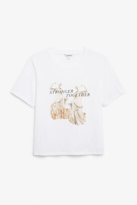 Monki Soft cotton tee