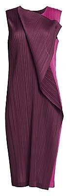 Pleats Please Issey Miyake Women's Hidden Colors Sleeveless Dress