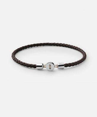 Miansai Nexus Sterling Silver Leather Bracelet in Brown