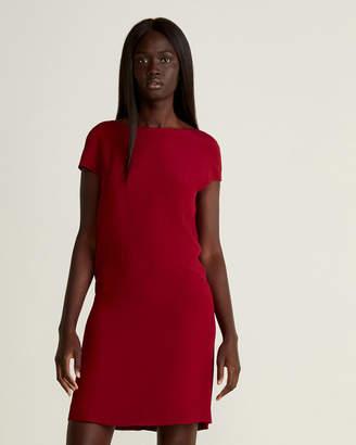 Marni Burgundy Short Sleeve Shift Dress